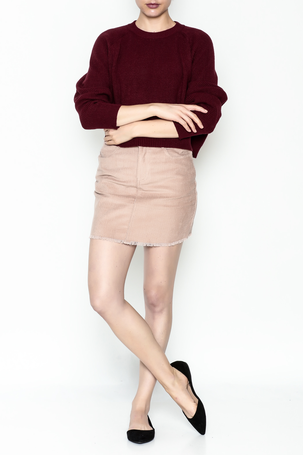 Honey Punch Crop Sweater - Side Cropped Image