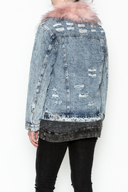 Honey Punch Denim Jacket - Back cropped