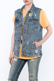 Honey Punch Denim Vest - Product Mini Image