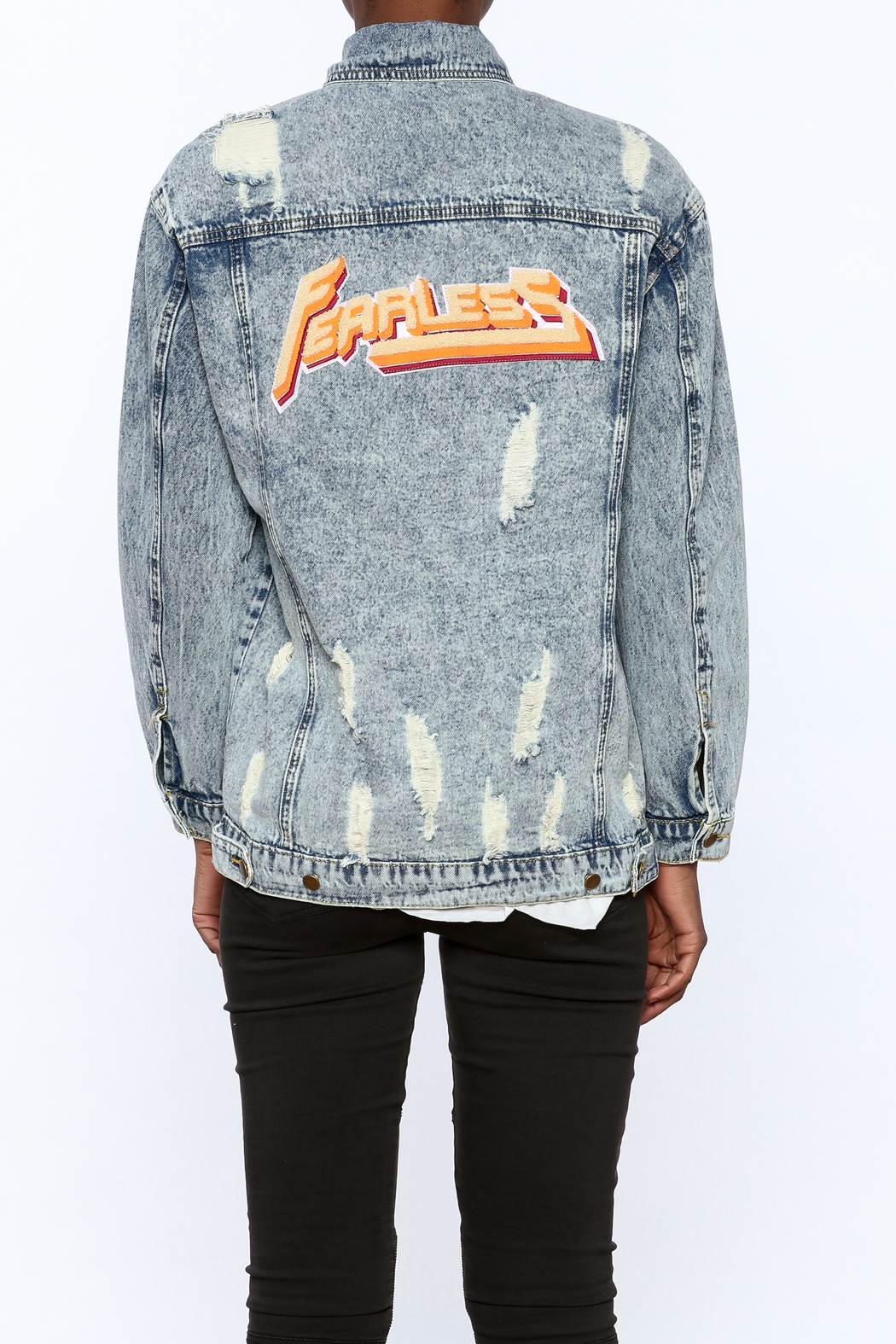 3c7a31ebc52a Honey Punch Distressed Denim Jacket from New York by Dor L Dor ...