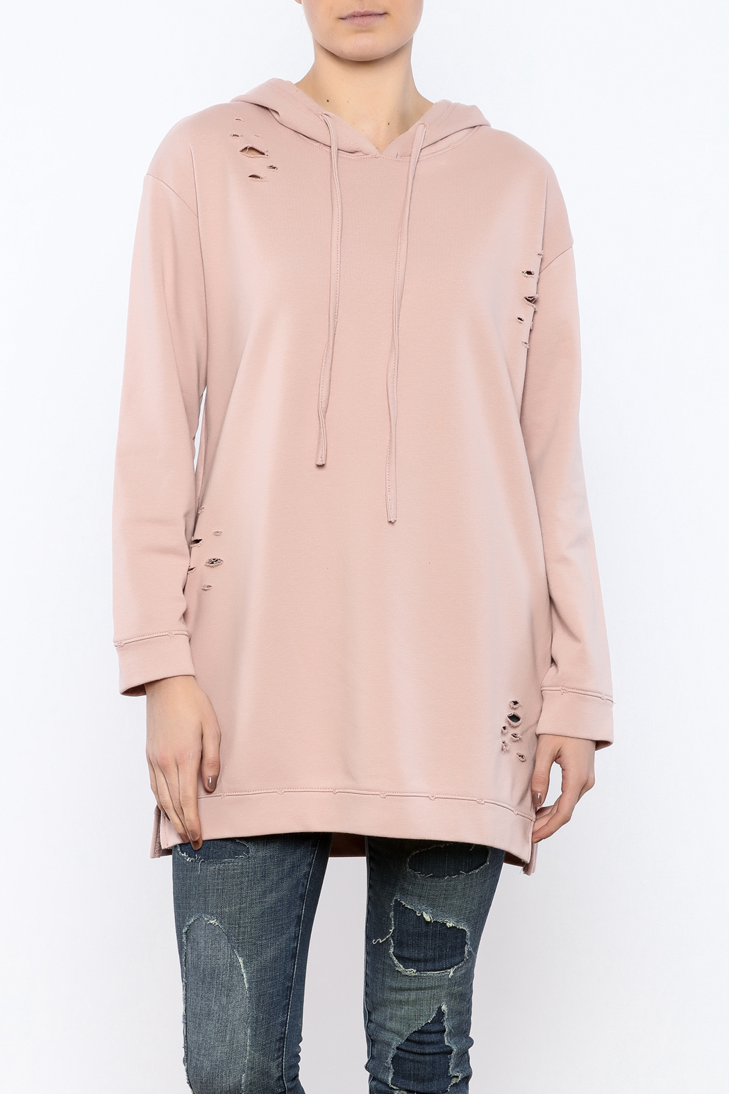 Honey Punch Distressed Sweatshirt Tunic from New York City ...