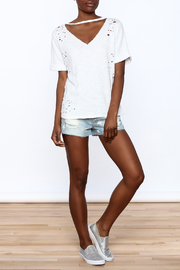 Honey Punch Distressed Tee - Front full body