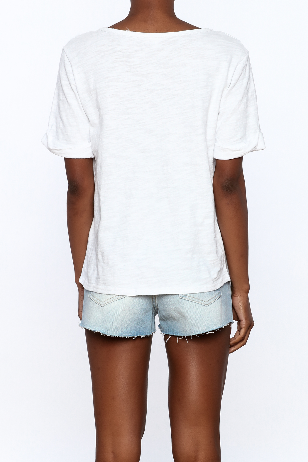 Honey Punch Distressed Tee - Back Cropped Image