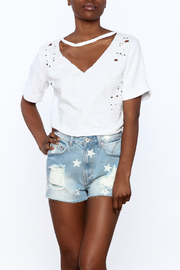 Honey Punch Distressed Tee - Front cropped