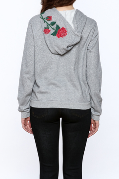 Shoptiques Product: Grey Embroidered Sweater