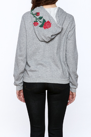 Honey Punch Grey Embroidered Sweater - Back cropped