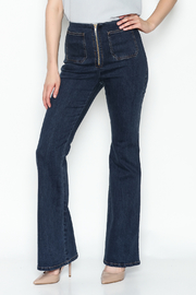 Honey Punch Flared Denim Pants - Product Mini Image