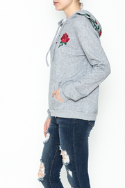 Honey Punch Floral Embroidered Hoodie - Product Mini Image