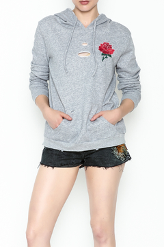 Shoptiques Product: Floral Embroidered Hoodie