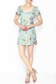 Honey Punch Floral Jacquard Dress - Side cropped
