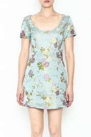 Honey Punch Floral Jacquard Dress - Front full body