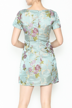 Honey Punch Floral Jacquard Dress - Alternate List Image