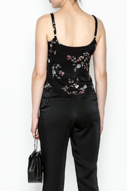 Honey Punch Floral Spaghetti Strap Top - Back cropped