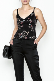 Honey Punch Floral Spaghetti Strap Top - Front cropped