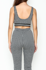 Honey Punch Gingham Bra Top - Back cropped
