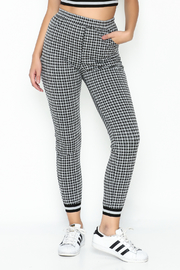 Honey Punch Gingham Joggers - Product Mini Image