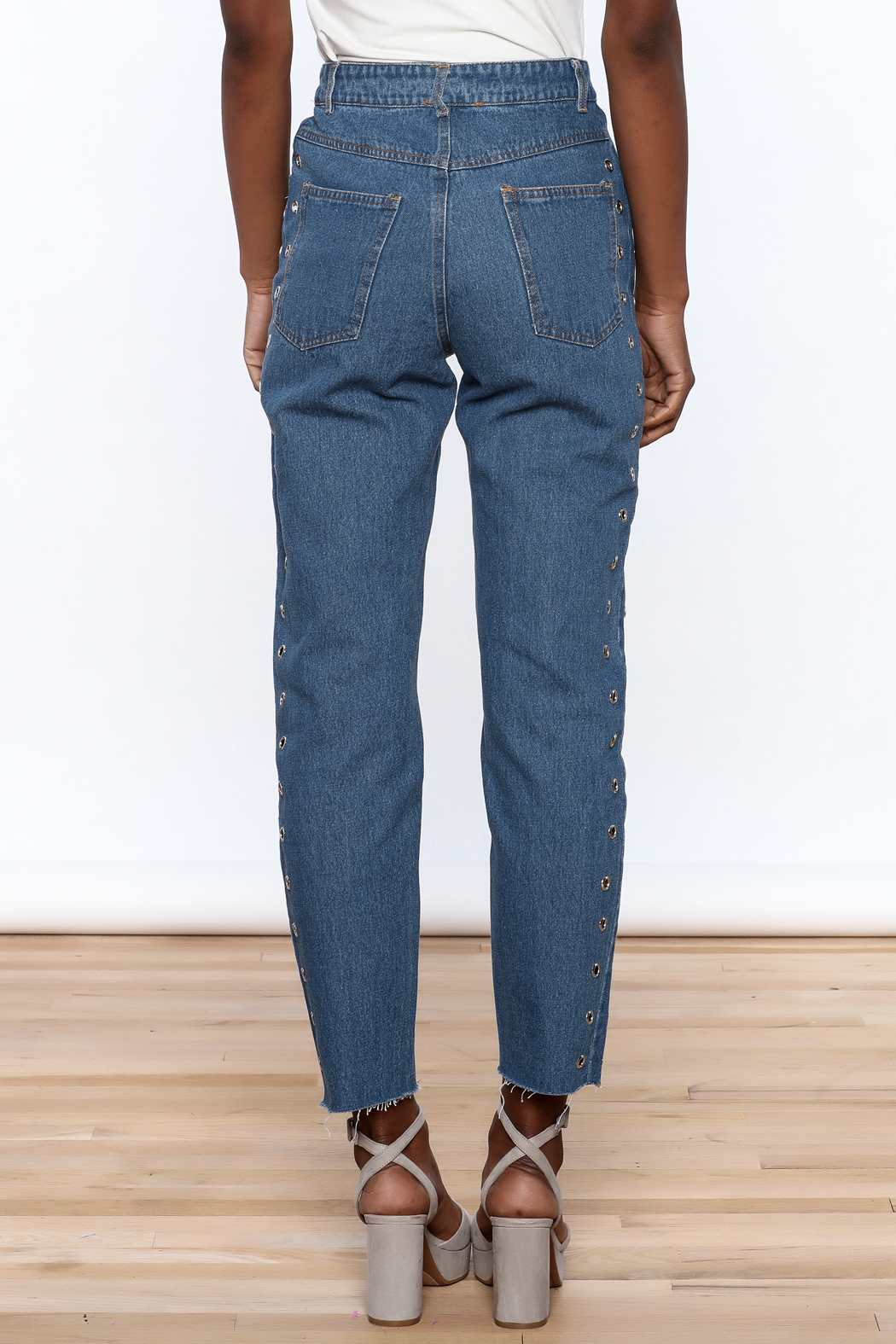 Honey Punch Cropped Boyfriend Jeans - Back Cropped Image