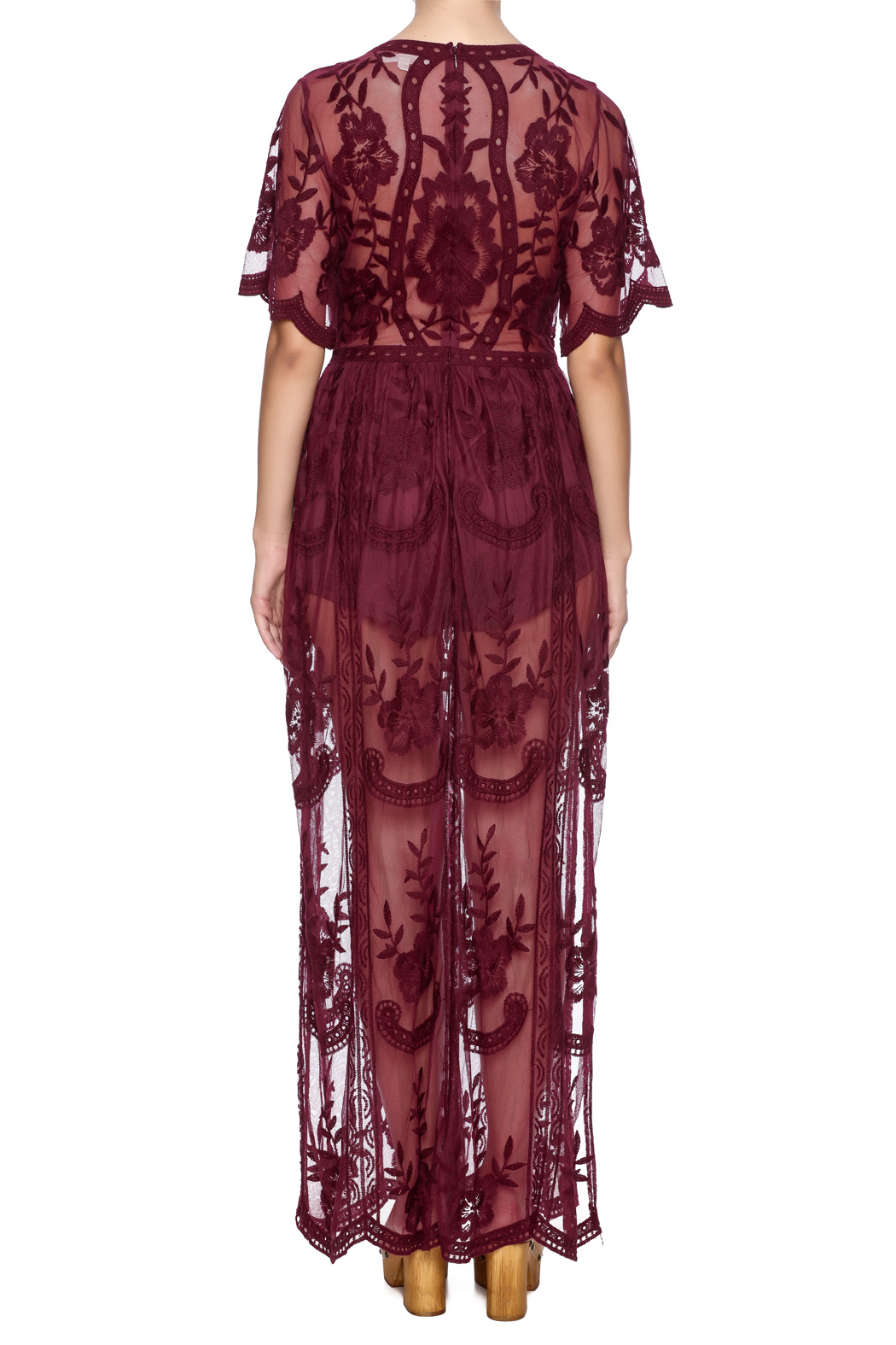 Honey Punch Boho Lace Maxi Dress From New York City By Dor