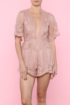 Shoptiques Product: Lace Mesh Romper