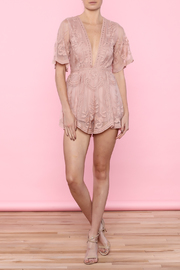 Honey Punch Marigold Butterfly Romper - Front full body