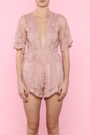 Honey Punch Marigold Butterfly Romper - Side cropped