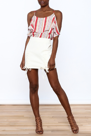 Honey Punch Lace Up Skirt - Front full body