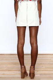 Honey Punch Lace Up Skirt - Back cropped