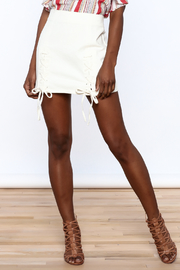 Honey Punch Lace Up Skirt - Front cropped