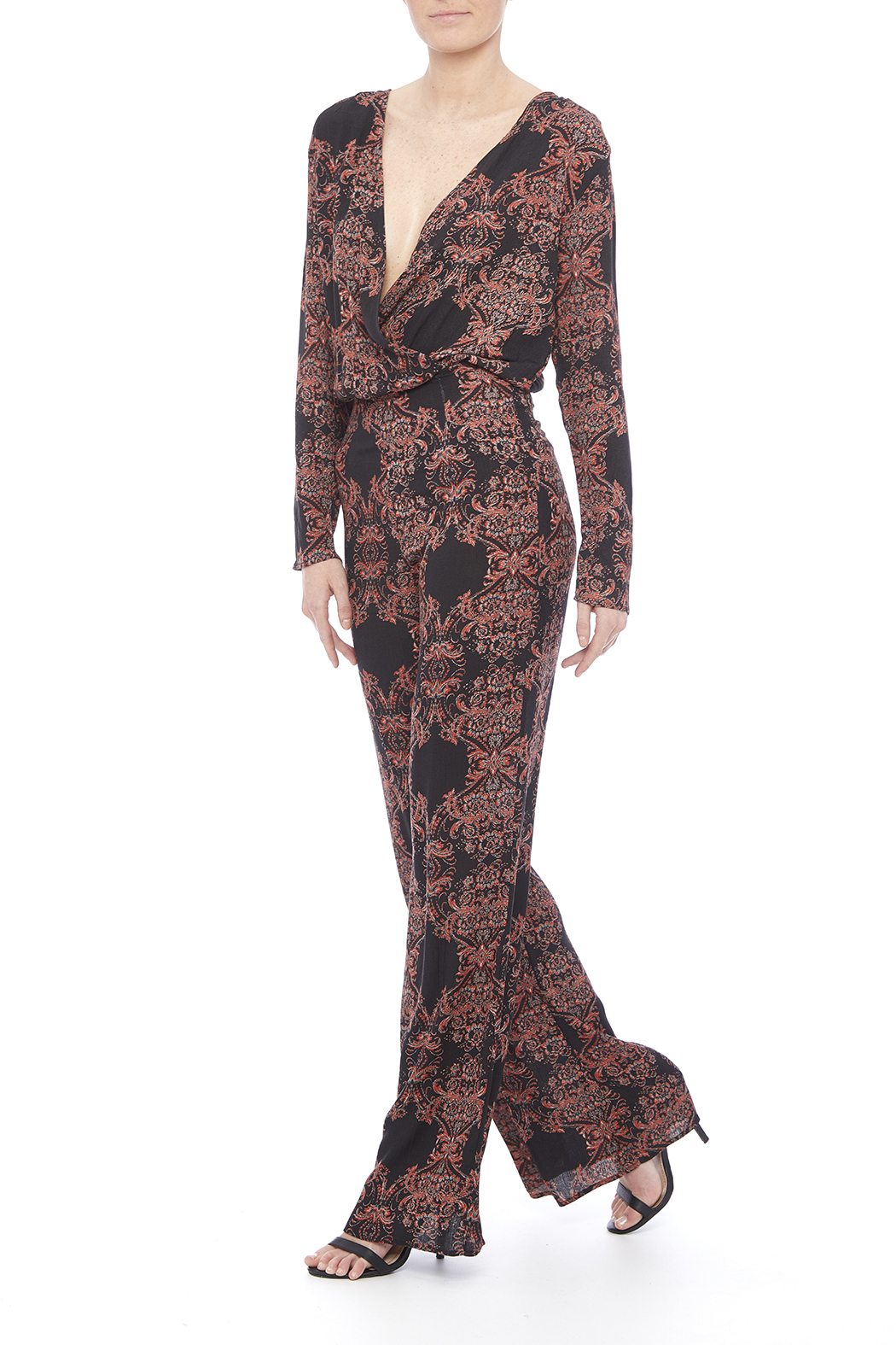 4c535ad1b56 Honey Punch Long Sleeve Patterned Jumpsuit from Los Angeles by ...