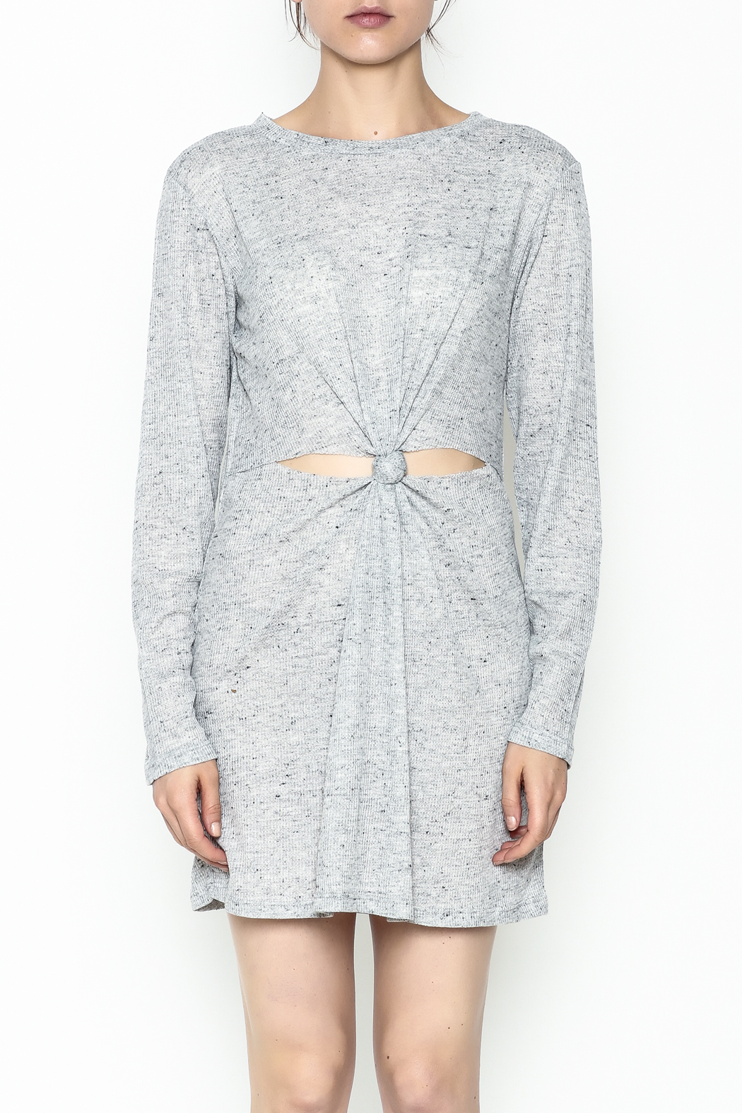 Honey Punch Long Sleeve Thermal Dress - Front Full Image
