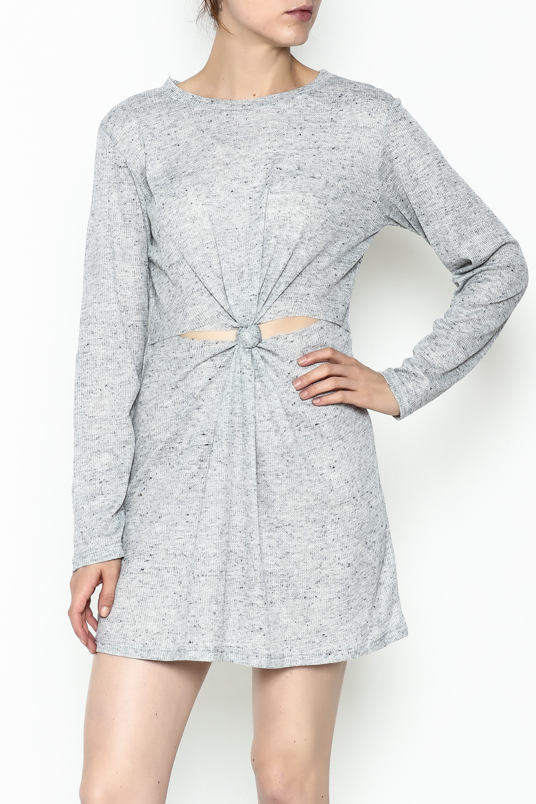 Honey Punch Long Sleeve Thermal Dress - Main Image