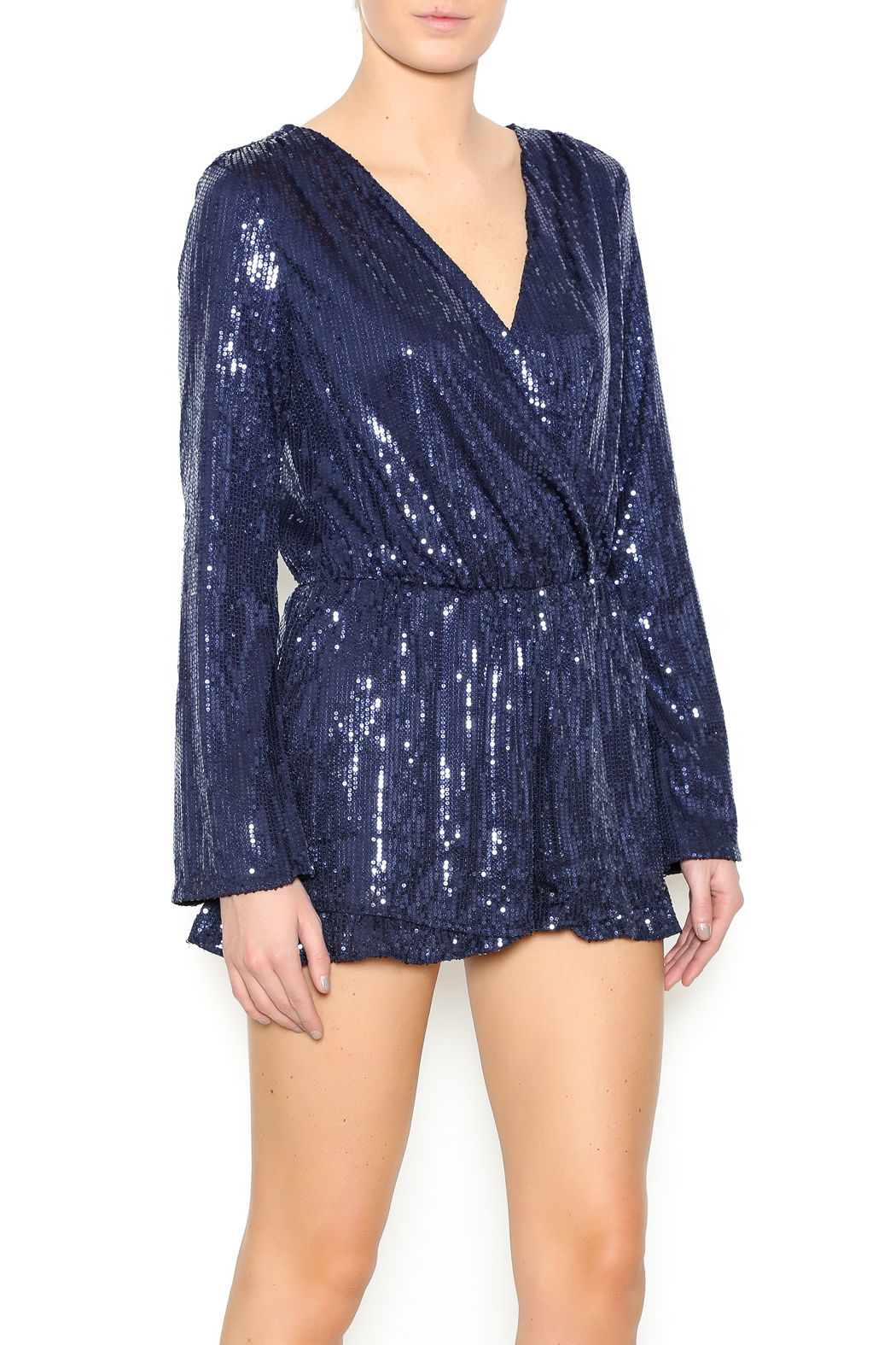 c8896cd5682 Clothing · Jumpsuits   Rompers · Rompers  Long Sleeve Sequin Romper. Honey  Punch ...