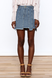 Honey Punch Multi Panel Denim Skirt - Side cropped