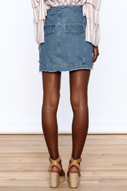Honey Punch Multi Panel Denim Skirt - Back cropped