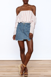 Honey Punch Multi Panel Denim Skirt - Front full body