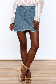 Honey Punch Multi Panel Denim Skirt - Front cropped