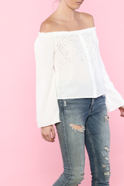 Honey Punch White Off-Shoulder Top - Product Mini Image
