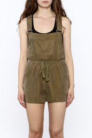 Honey Punch Olive Overall Romper - Side cropped