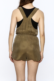 Honey Punch Olive Overall Romper - Back cropped