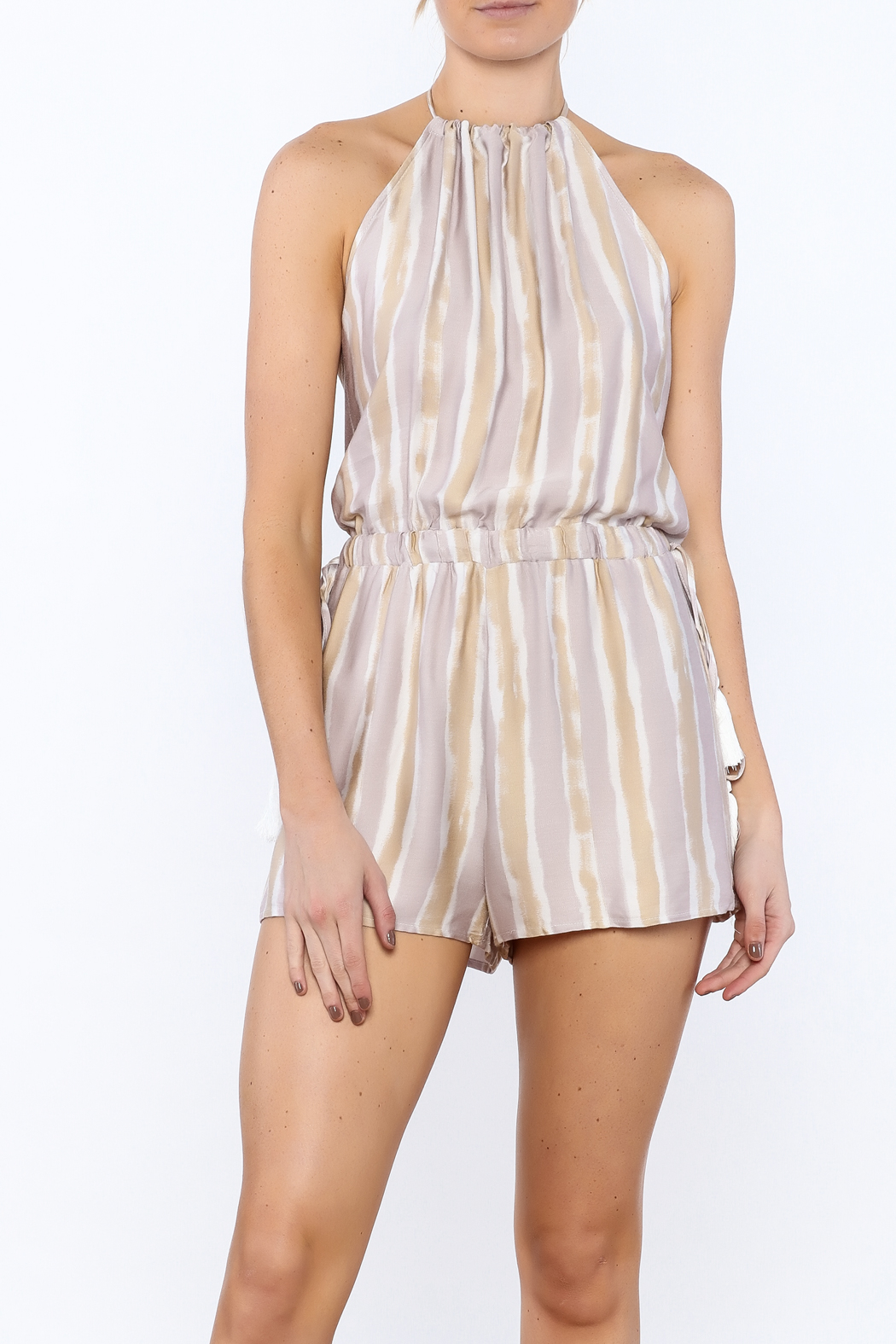 Honey Punch Playful Poolside Romper - Main Image