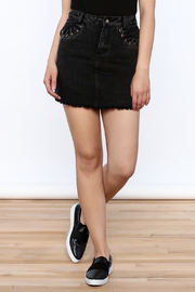 Honey Punch Black Denim Skirt - Product Mini Image
