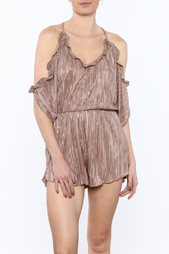 Shoptiques Product: Mocha Pleated Romper