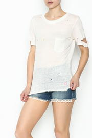 Honey Punch Ripped Sleeve Tee - Product Mini Image