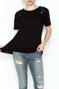 Honey Punch Round Neck Distressed Tee - Product List Image