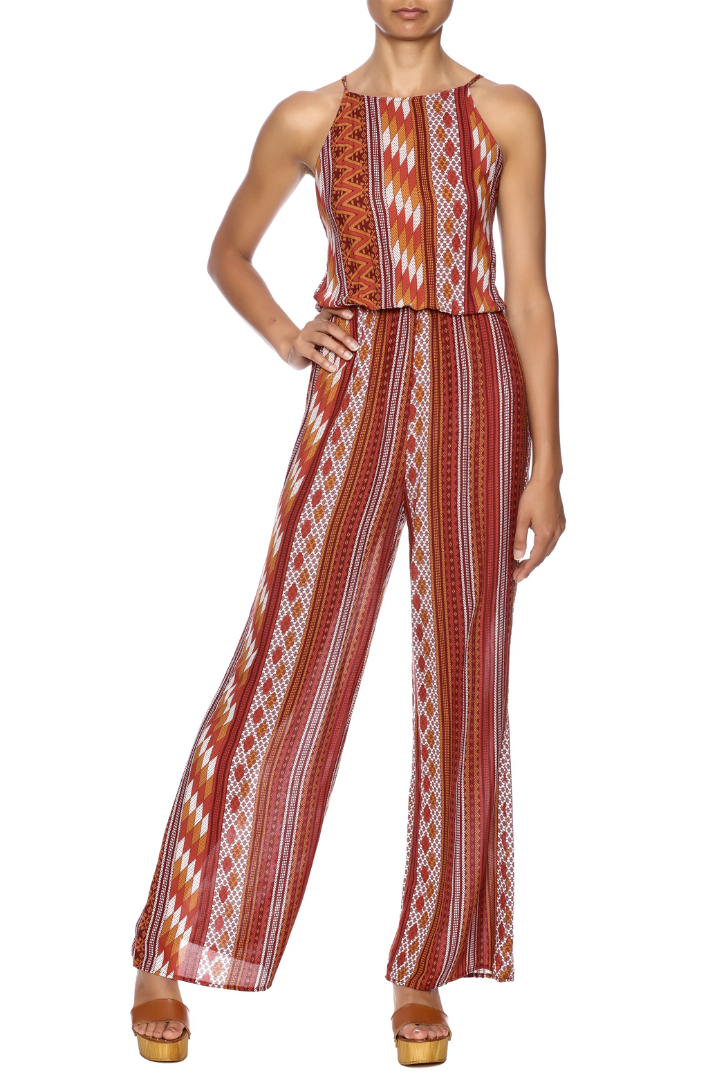 Honey Punch Rust Jumpsuit - Main Image