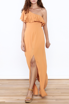 Shoptiques Product: Orange One Shoulder Dress