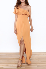 Honey Punch Orange One Shoulder Dress - Product Mini Image