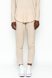 Honey Punch Soft Brushed Jersey Sweatpants - Front full body