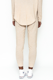 Honey Punch Soft Brushed Jersey Sweatpants - Back cropped