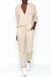 Honey Punch Soft Brushed Jersey Sweatpants - Side cropped
